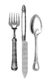 vintage kitchen clip art fork knife spoon the graphics fairy on kitchen fork knife spoon wall art french painting with vintage kitchen clip art fork knife spoon pinterest graphics