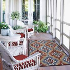 outdoor contemporary mohawk home mystic ikat outdoor nylon rug durable marine backing easy to clean with regular vacuuming suitable for wet or damp