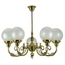 reion polished brass victorian lighting etched glass woodford 5 arm light