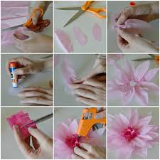 diy tissue paper flower how to jpg