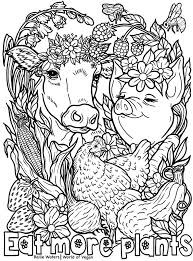 Free printable coloring pages for kids! Printable Vegan Coloring Page A Mindfulness Activity For Kids
