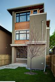 calgary mount pleasant infill custom home exterior back