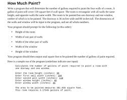 how much paint write a program that