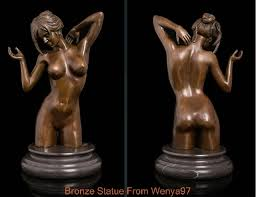 Erotic glass nude figurines art