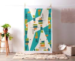 modern fabric wall art mid century modern atomic teal abstract fabric as wall art large modern  on large modern fabric wall art with modern fabric wall art modern wall art handmade contemporary block