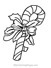 Small Picture Coloring Pages Cute Christmas Elf With Candy Cane Coloring Page