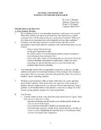 School Counselor Cover Letter Resume And Cover Letter Resume And