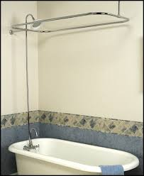clawfoot tub shower attachment. clawfoot tub add on shower kit - gooseneck faucet rod. image 1 attachment l