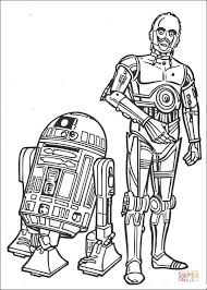 Small Picture r2d2 and c3po coloring page Free Printable Coloring Pages