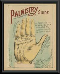 Details About Palmistry Palm Chart Reprint On 90 Year Old Paper Psychic P126