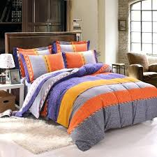 orange and blue bedding image of burnt orange grey yellow blue rugby stripe color block simply