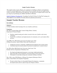 Sample Resume For Applying Teaching Job Job For Applying Teacher Insssrenterprisesco Application The Best 3