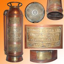 antique copper fire extinguisher by knight thomas inc boston pat 1895 98
