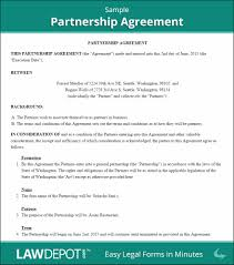 Partnership Agreements Business Partnership Contract Sample Agreement Standard Partnership 3