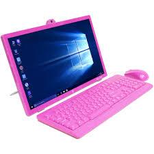 elaio elaio18501e pk all in one desktop pc with intel atom 23735f processor 2gb memory 18 5 monitor 32gb hard drive and windows 10 home com