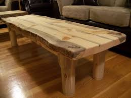 wood slab coffee table rustic