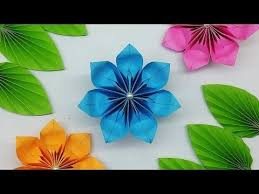 How To Make Origami Paper Flower Diy Easy Paper Flowers Tutorial How To Make Paper Flower