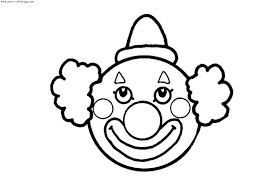 Dessins Coloriage Clown Imprimer Dessin Blanc Image Rigolo Couleur Dessin De Clown L