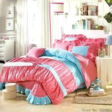 korean style bedding set princess cute bowknot leopard bed linen blue purple duvet cover sheet queen