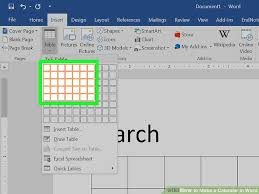 microsoft office schedule maker how to make a calendar in word with pictures wikihow