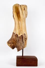 rhododendron wood with jarrah wood base carved wood sculpture by sculptor cynthia lewis titled