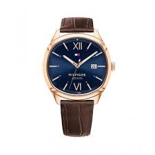 tommy hilfiger men 039 s leather strap watch 1710366