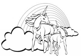 Unicorn Rainbow Coloring Pages At Getdrawingscom Free For