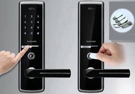ultra touch screen slim digital door lock double electronic lock with handle door lock pin or