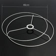 Circular Lampshade Frame Ring 95111214203040cm Diameter Lamp