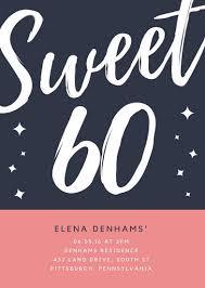 60th Birthday Presentation Template 60th Birthday Invitations Free