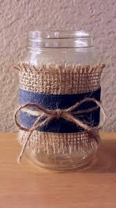 Mason Jars Decorated With Twine Dollar store mason jar burlap denim ribbon and twine So quick 93