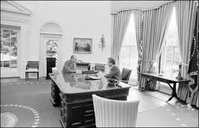 nixon office. President Richard M. Nixon Speaks With Vice Gerald R. Ford, Aug. Office