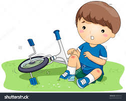 Image result for PICS OF A KID FALLING OFF HIS BIKE