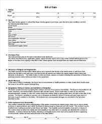 Copy Bill Of Sale Printable Blank Bill Of Sale Template 11 Free Word Pdf