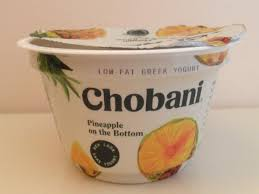 pineapple on the bottom low fat greek yogurt