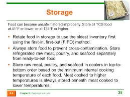 Which Storage Method May Cause Tcs Food To Become Unsafe Mesmerizing Chapter 32 Keeping Food Safe Ppt Video Online Download