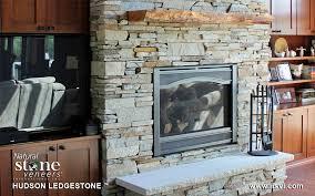 hudson ledgestone fireplace residential natural stone veneers inc