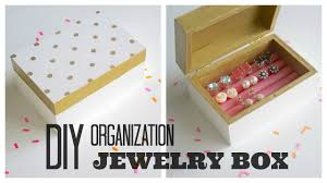 Memory Box Decorating Ideas DIY Organization Painted Wooden Jewelry Box YouTube 53