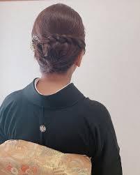 アルマリアン福岡へご参列のご親族様 黒留袖 訪問着着付け 和装ヘア