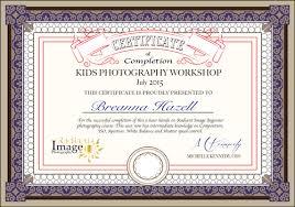 radiant image photography kids holiday workshops breanna radiant image certificate of completion