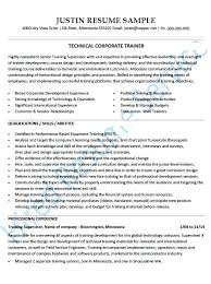 Athletic Trainers Resume Corporate Trainer Resume Training Resume ...