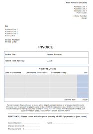 sample billing invoice invoice template for self pay patients medical billing