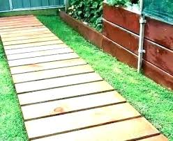 roll out walkway wooden walkways for garden vegetable rubber pouring portable curved cedar pathway wood boardwalk