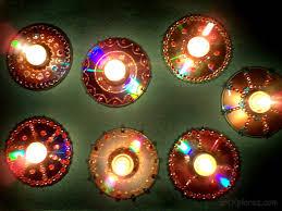 decorative diyas using wate cd s 6