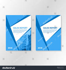 Business Report Booklet Cover Brochure Layout Stock Vector Royalty