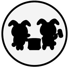 かわいい月と餅つき兎の無料イラスト商用フリー オイデ43
