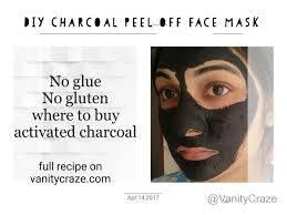 charcoal l off face mask for blackheads and whiteheads no glue no gluten