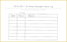 hour log template volunteer hours log template excel fresh new of work hour awesome