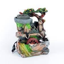 Okumuşlar Hediyelik Dekoratif Led Işıklı Değirmenli Su Şelalesi OK1768  Fiyatı ve Özellikleri - GittiGidiyor