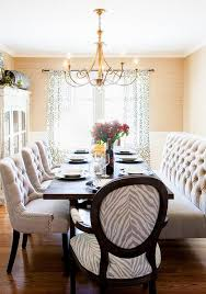 dining room bench furniture. posh interiors austin - dining rooms room, brass chandelier, tufted bench, chairs, grass cloth wallpaper, comfortable dining, forma\u2026 room bench furniture t